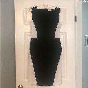 Calvin Klein black and white geometric dress 8